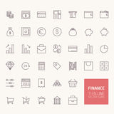 Finance Outline Icons Royalty Free Stock Photo