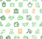 Finance Pattern Background. Vector. Finance Pattern Background with Outline Icons for Business Theme Financial Symbol on a Light. Vector illustration Royalty Free Stock Image