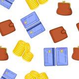 Finance pattern, cartoon style. Finance pattern. Cartoon illustration of finance vector pattern for web Stock Photography