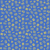 Finance Pattern. Finance Sketch Style Seamless Pattern Stock Photo
