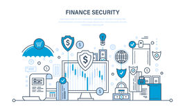 Finance and payment security, cash deposits, purchases and money transfers. Royalty Free Stock Images