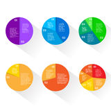 Finance Pie Diagram Circle Infographic Financial. Finance Pie Diagram Circle Infographic with Financial Business Graph Set Vector Illustration Stock Images