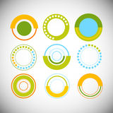 Finance Pie Diagram Circle Infographic with Financial Business Graph Set. Vector Illustration Stock Photo