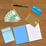 Finance plan concept. Calculate audit finance, vector illustration Royalty Free Stock Photos