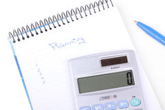 Finance planning Royalty Free Stock Images
