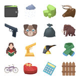 Finance, police, animals and other web icon in cartoon style.Sport, education, library icons in set collection. Royalty Free Stock Photography