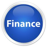 Finance premium blue round button. Finance isolated on premium blue round button abstract illustration Royalty Free Stock Images