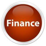 Finance premium brown round button. Finance isolated on premium brown round button abstract illustration Royalty Free Stock Images
