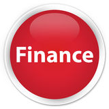 Finance premium red round button. Finance isolated on premium red round button abstract illustration Royalty Free Stock Images