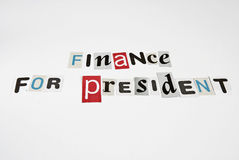Finance for president ransom Royalty Free Stock Image