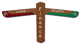 Finance - Profit - Loss stock photo