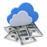 Finance and profits for Cloud Computing. In the design of information related to internet Stock Photos