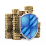 Finance protection concept. On white Royalty Free Stock Photo