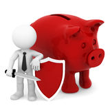 Finance protection.  Isolated Royalty Free Stock Photos