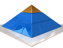 Finance pyramid. Computer graphics illustration of finance pyramid Royalty Free Stock Image