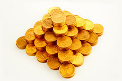 Finance pyramid. On white royalty free stock photo
