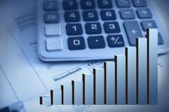 Finance raport. Finance report, economy stats, chart Stock Images