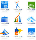 Finance and real estate logos and icons Stock Photo