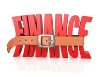 Finance recession, deficit 3d illustration. Finance recession, deficit concept, 3d rendering isolated illustration on white background Stock Image