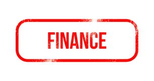 Finance - red grunge rubber, stamp.  Stock Images