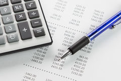 Finance report Stock Photography