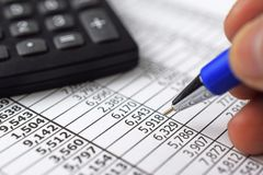 Finance report stock images