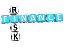 Finance Risk Crossword. 3D Finance Risk Crossword on white background Stock Images