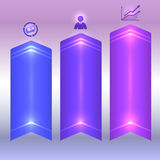 Finance Risk purple background light effect element. Design business presentation template. Glow light effect on purple background. Vector illustration for Royalty Free Stock Photo