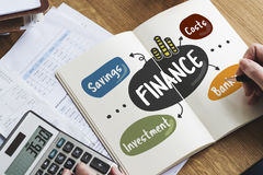 Finance Savings Costs Investment Banking Money Concept Stock Photo