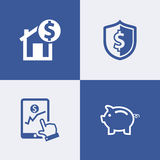 Finance, savings money  icon Royalty Free Stock Images
