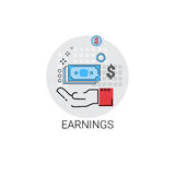 Finance Savings Security Banking Icon. Vector Illustration Stock Photography
