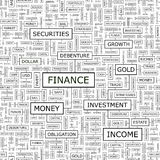FINANCE. Seamless pattern. Word cloud illustration Royalty Free Stock Photo