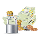 Finance Secure Concept Vector. Royalty Free Stock Images