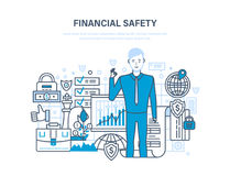 Finance security and payment safety, insurance, protection, purchases, money transfers. Finance security and payment safety, insurance, protection, cash Royalty Free Stock Photos