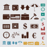Finance set Stock Images