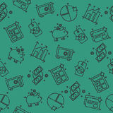 Finance set pattern. Money concept. Vector illustration EPS 10 Stock Photo