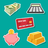 Finance set. Vector set of finance icons Stock Photo
