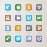 Finance and Shopping icons set Royalty Free Stock Photo
