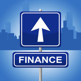 Finance Sign Represents Trading Investment And Arrows. Finance Sign Indicating Business Advertisement And Figures Royalty Free Stock Photos