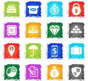Finance simply icons Stock Images