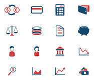 Finance simply icons Royalty Free Stock Image