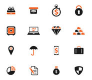 Finance simply icons. Finance  simply symbol for web icons and user interface Royalty Free Stock Photos