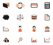 Finance simply icons. Finance  simply symbol for web icons and user interface Stock Photo