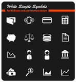 Finance simply icons Royalty Free Stock Photos