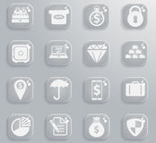 Finance simply icons Stock Image