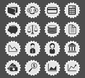 Finance simply icons Royalty Free Stock Images