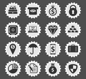 Finance simply icons Royalty Free Stock Photography