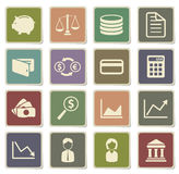 Finance simply icons Royalty Free Stock Photo