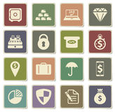 Finance simply icons. Finance  vector icons for web sites and user interface Royalty Free Stock Photos