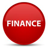 Finance special red round button. Finance isolated on special red round button abstract illustration Stock Photography